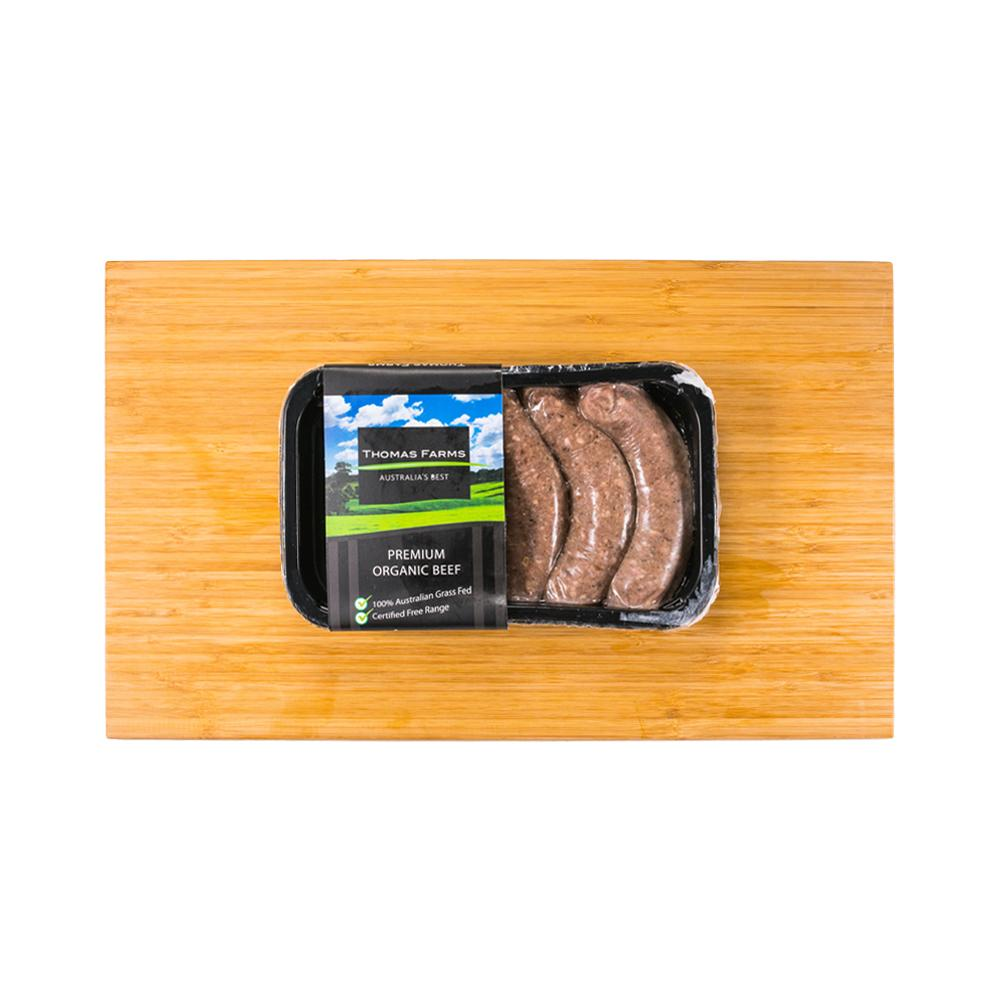 Thomas Farms Organic Farmhouse Beef Sausage (3 pcs)