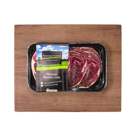 Thomas Farms Aus Organic Lamb Shabu Shabu (200g) (Frozen)