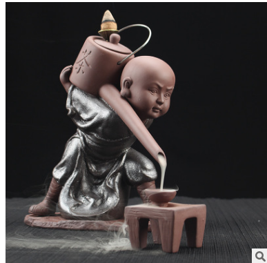 Ceramic Censor Little Monk Backflow Burner
