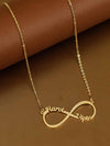 Gold Plated Couple Infinity Necklace