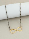Gold Plated Couple Infinity Name Mangalsutra