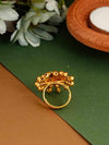 Golden Suryamukhi Adjustable Ring