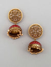 Ruby Raga Jhumki Earrings