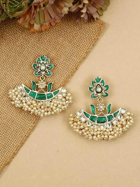 Emerald Geetika Dangler Earrings