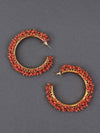 Coral Ira Hoop Earrings