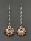 Maroon Niyati Chaandbali Sahara Earrings