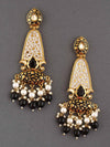 Jet Mogra Dangler Earrings