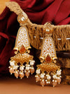 Brown Mogra Dangler Earrings