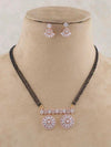 Emerald Swarn Gajanan Gold Plated Temple Necklace Set with Earrings