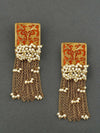 Orange Varsha Designer Earrings