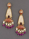 Purple Mogra Dangler Earrings