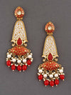 Red Mogra Dangler Earrings