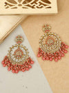 Coral Savitri Designer Earrings