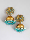 Turquoise Archana Jhumki Earrings