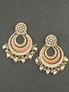 Peach Manasi Chaandbali Earrings