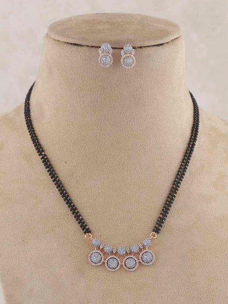 Emerald Laksmika Gold Plated Temple Choker Set with Earrings