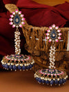 Navy Jacki Jhumki Earrings