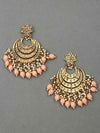 Peach Aarav Chaandbali Earrings