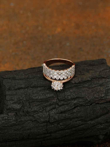 Rose Gold Brenda Zirconia Ring