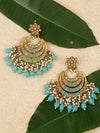 Turquoise Aarav Chaandbali Earrings