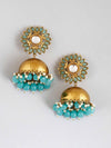 Turquoise Charita Jhumki Earrings