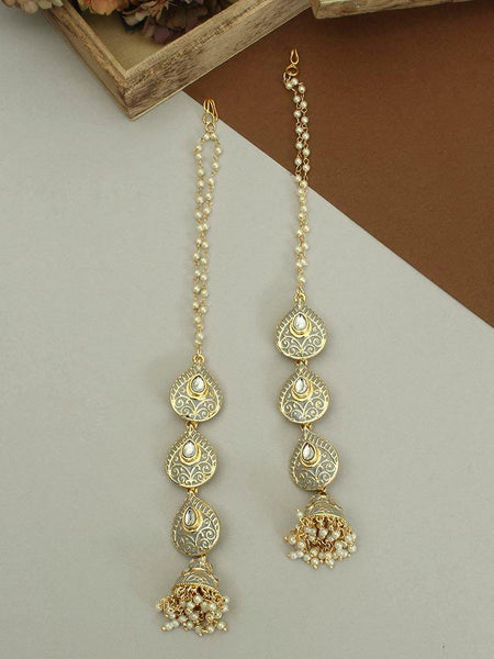 Grey Ananti Sahara Jhumki Earrings