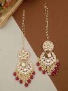 Magenta Sapna Chaandbali Earrings