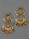 Golden Adhrit Jhumki Earrings