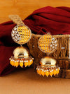 Mustard Tanu Jhumki Earrings