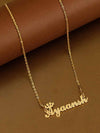 Gold Plated Crown Name Necklace