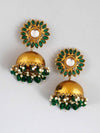 Emerald Charita Jhumki Earrings