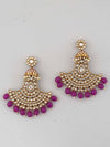 Purple Hamsini Chaandbali Earrings