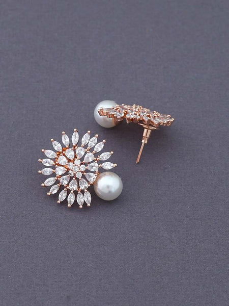 Ruby Patti Gold Plated Ethnic Necklace with Earrings