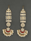 Golden And Red Falak Chaandbali Sahara Earrings