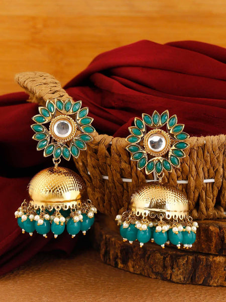Jade Charita Jhumki Earrings
