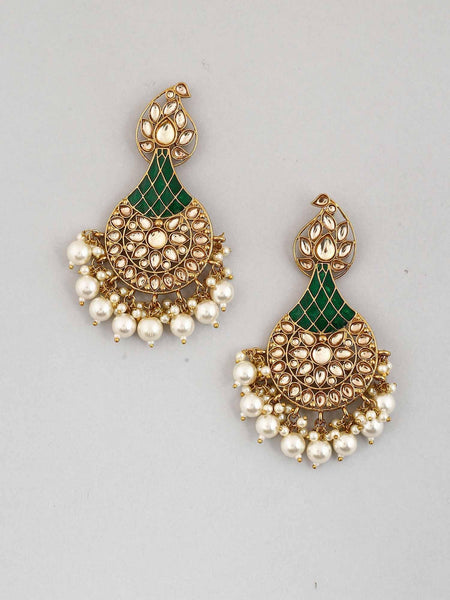 Emerald Boond Designer Earrings