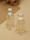 Golden Arpita Dangler Earrings