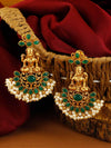 Emerald Padmini Gold Plated Pearl Earrings