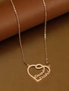 Rose Gold Couple Heart Necklace