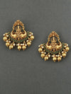 Emerald Mahalakshmi Gold Plated Earrings