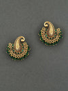 Emerald Kalki Gold Plated Earrings