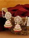 Red Vanya Jhumki Earrings