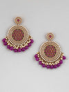 Purple Nandini Designer Earrings