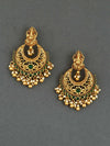 Emerald Ganesha Chaandbali Earrings