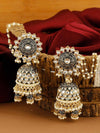 Jet Aanandi Sahara Jhumki Earrings