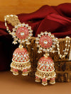 Red Aanandi Sahara Jhumki Earrings