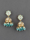 Turquoise Magone Jhumki Earrings