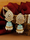 Ivory Baby Blue Janvi Jhumki Earrings