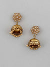 Golden Sabri Jhumki Earrings