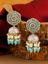 Turquoise Jessi Jhumki Earrings